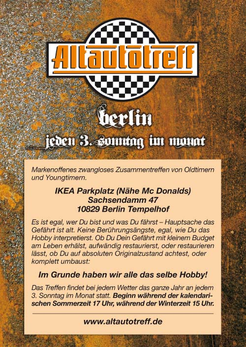 Flyer Altautotreff Berlin